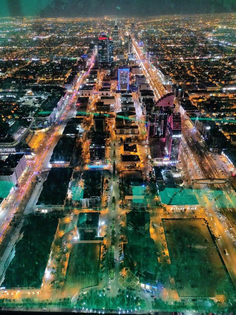 Riyadh, Saoedi-Arabië donker